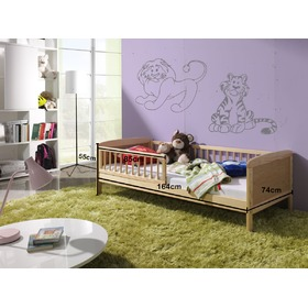 Natural Junior Children's Bed - 160 x 70 cm, Ourbaby