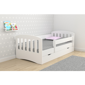 Classic Children's Bed - White, All Meble