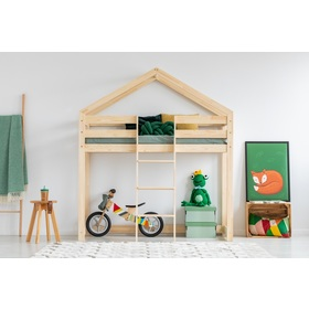 Children elevated bed house Mila Classic, ADEKO STOLARNIA