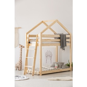 Children storey bed house Mila, ADEKO STOLARNIA