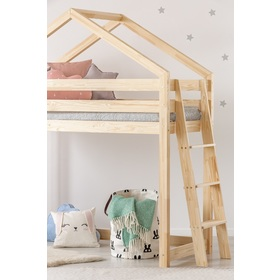 Children elevated bed house Mila, ADEKO STOLARNIA