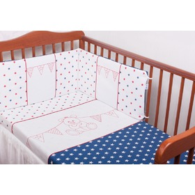 3-Piece Baby Cot Bedding Set - Colourful Teddy Bear