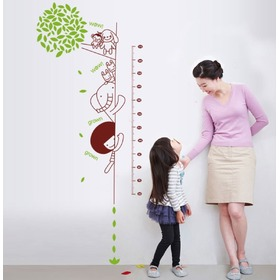 Wall Decoration - Curious Animals Height Chart, Amsaid