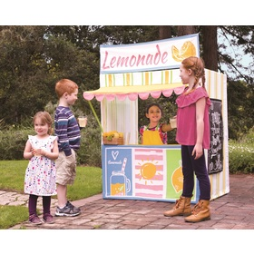 Children playing house Stand with lemonade, Indie