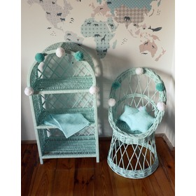 LILU Wicker stroller for dolls, LILU