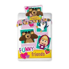 Children bedding 135x100 + 60x40 cm Masha a the bear Friends, Faro, Masha and The Bear