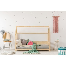 Children bed house with barrier Mila, ADEKO STOLARNIA