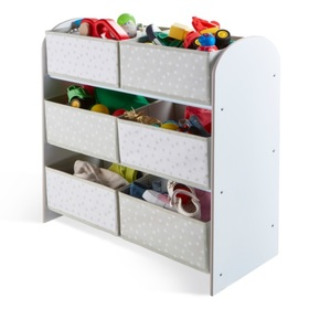 Toy organizer with gray and white boxes, Moose Toys Ltd
