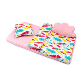 Sheet Ourbaby minka - pink, Dreamland