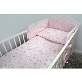 Bedding set for cribs 120x90cm Pony - pink, Ankras