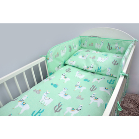 Bedding set for cribs 120x90 cm Lama - mint, Ankras