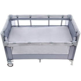 Travel cot Close to Mommy - grey, Multiglob