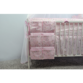 Crib storage pockets Pony - pink, Ankras