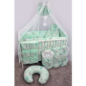 Swaddle blanket Lama - mint, Ankras