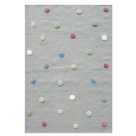 Children's rug with dots - grey