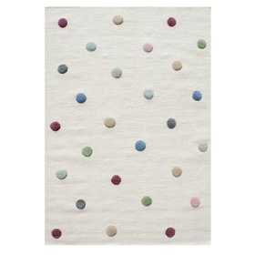 Children's rug with dots - cream
