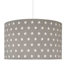 Textile hanging lamp Stars - grey, YoungDeco