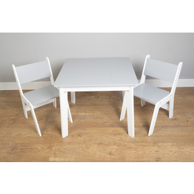 Ourbaby - Children's table and chairs - gray-white, SENDA